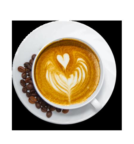 Caffè macchiato cuore